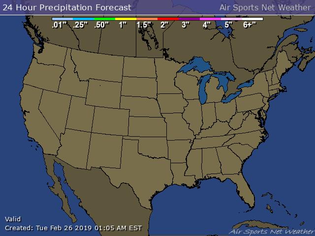 Forecast - Precipitation Map for the United States / usAirNet.com…